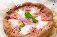 Pizza Margherita con farina di castagne