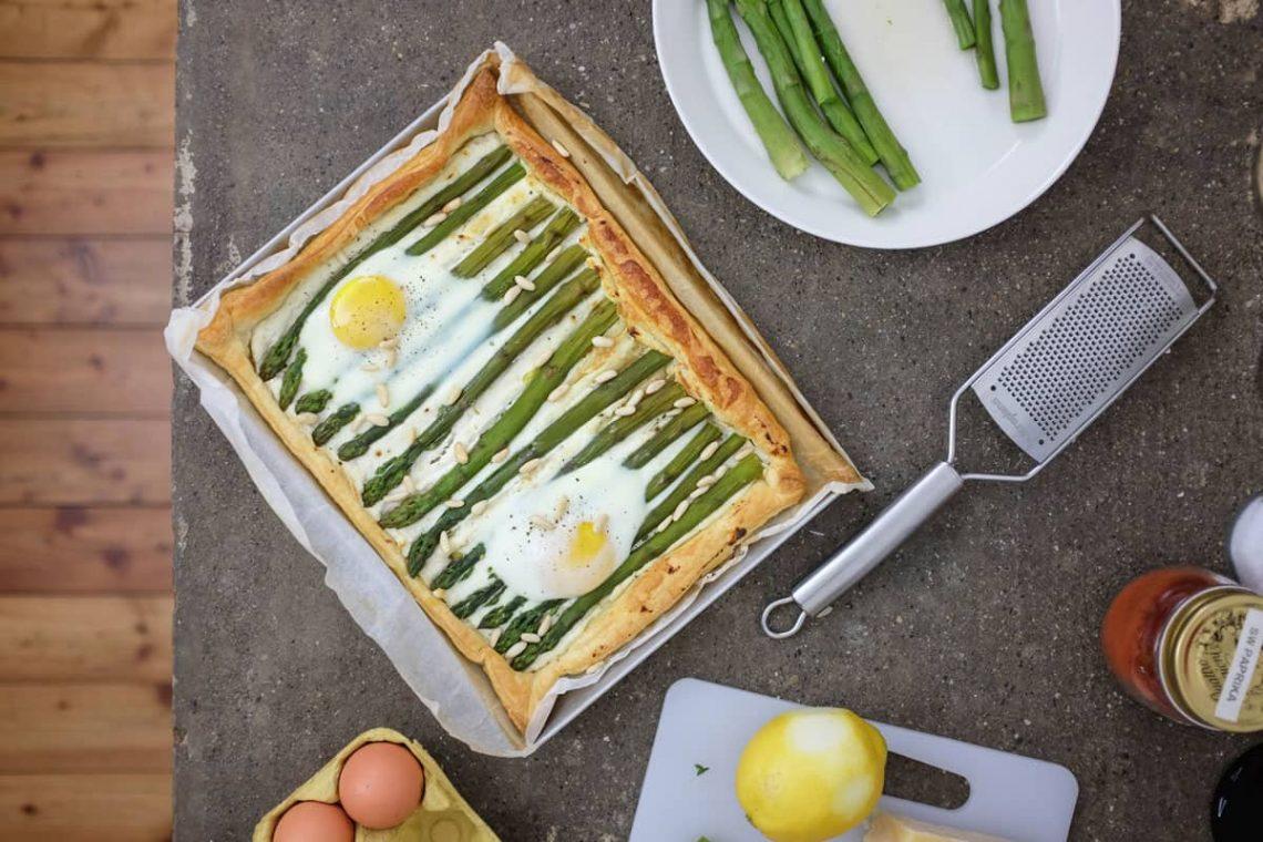 I Trentenni: Sfoglia di asparagi, limone e uova