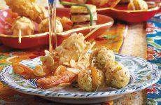 Ricetta Gamberi in crosta di mandorle e baci di grana